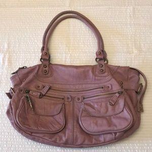 Anthropologie Bica Cheia lavender leather purse